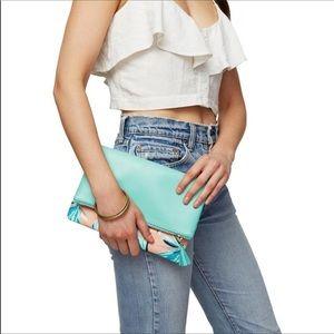 Rachel Pally tropical reversible fold clutch NWOT